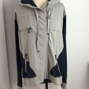 LAMB silk and cotton hoodie